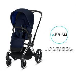 Cybex - BU189 - Poussette ePriam 2019  Alu-noir Indigo blue (398108)
