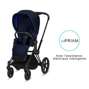 Cybex - BU190 - Poussette ePriam 2019  Noir Indigo blue (398110)