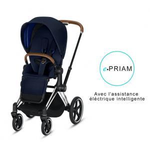 Cybex - BU191 - Poussette ePriam 2019  Alu-marron Indigo blue (398112)