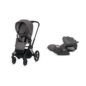 Cybex - BU210 - Poussette Priam 2019 et Cloud Z i-size  Noir Manhattan Grey (398150)