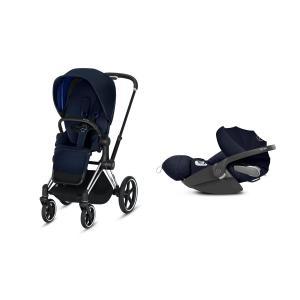 Cybex - BU213 - Poussette Priam 2019 et Cloud Z i-size  Alu-noir Indigo blue (398156)