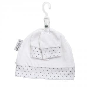 Candide - 635110 - Bonnet & moufles naissance étoiles (398204)