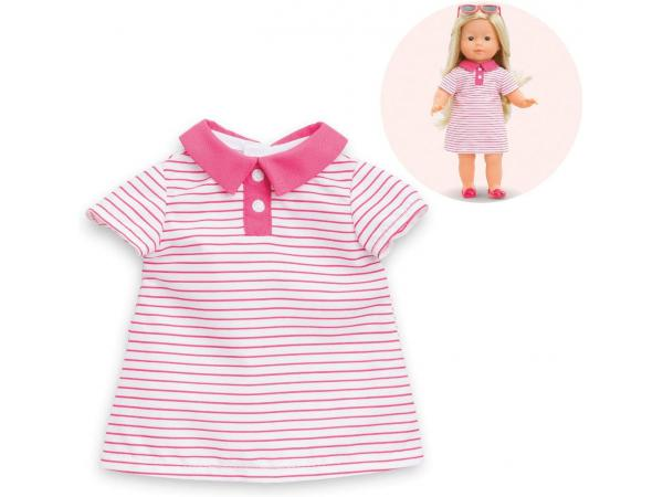 Ma corolle robe polo -rose - taille 36 cm - âge : 4+