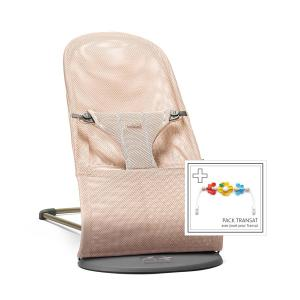 Babybjorn - 606001 - Bouncer Bliss (Pearly Pink, 3D Mesh) with Flying Friends Toy for Bouncer (399132)