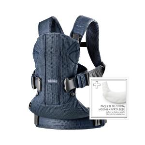 Babybjorn - 698008 - Pack Porte-bébé One Air Bleu marine + bavoir pour Porte-bébé One (399140)