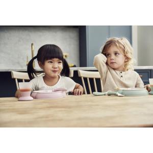 Babybjorn - 074067 - Assiette, Cuillère et Fourchette pour Bébé, 2 ensembles, Bleu pastel (399180)