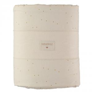 Nobodinoz - N109398 - Tour de lit Nest 207x32 cm Honey Sweet Dots Natural (399220)