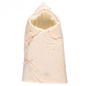 Nobodinoz - N110219 - Nid d'ange d'hiver Cozy 0-3 m Gold Stella/Dream Pink (399226)