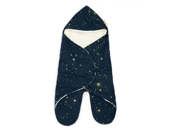 Couverture nomade mi-saison kiss me 0-6 mois gold stella/night blue