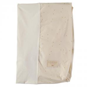 Nobodinoz - N109565 - Housse de matelas à langer Calma 70x50 cm Honey Sweet Dots Natural (399272)