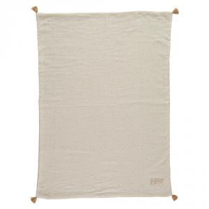 Nobodinoz - N109763 - Couverture d'été Treasure 70x100 Honey Sweet Dots Natural (399326)