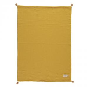 Nobodinoz - N109732 - Couverture d'été Treasure 70x100 Farniente Yellow (399330)