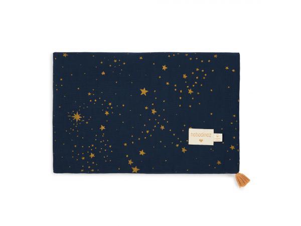 Couverture d'été treasure 70x100 gold stella /midnight blue