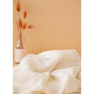 Nobodinoz - N109954 - Ciel de lit Amour 250X50 Honey Sweet Dots Natural (399366)