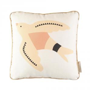 Nobodinoz - N109947 - Coussin Haiku bird 30x30 Natural (399368)