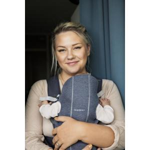 Babybjorn - 021031 - Porte-bébé Mini, Bleu chiné, Jersey 3D (399386)