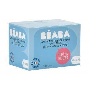 Beaba - 911657 - Lot de 2 tétines - débit lent (0-6m) (399496)