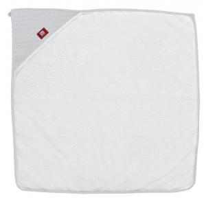 Red Castle  - 0304168 - Sortie de bain 1m x 1m - Fleur de coton ® Blanc/Gris Perle (399610)