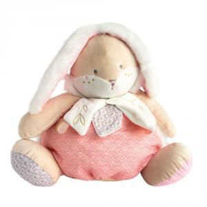 Doudou et compagnie - DC3495 - Lapin de sucre rose - range pyjama  - 38 cm (399740)