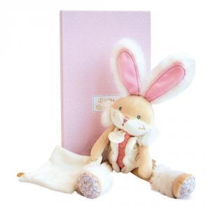 Doudou et compagnie - DC3486 - Lapin de sucre rose - pantin avec doudou  - taille 31 cm (399744)