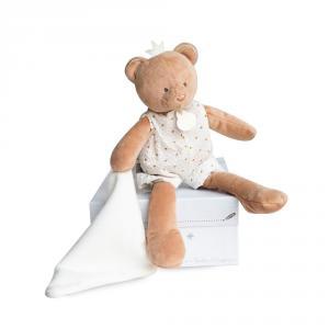 Doudou et compagnie - DC3545 - Attrape-reve - ours pantin avec doudou  - taille 28 cm (399802)