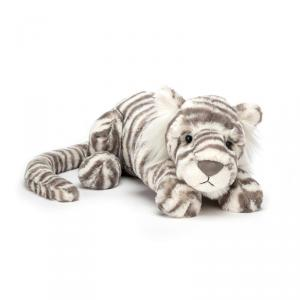 Jellycat - SAC4T - Peluche tigre de neige Sacha - L = 8 cm x l = 29 cm x H =8 cm (399972)