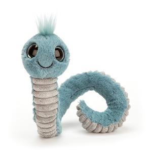 Jellycat - WW3B - Peluche ver Wiggly bleu - L = 8 cm x l = 7 cm x H =16 cm (400058)