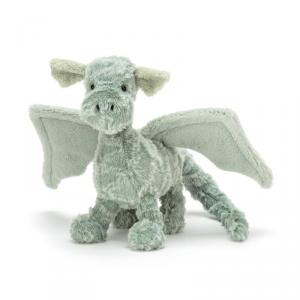 Jellycat - D3D - Peluche dragon Drake - L = 9 cm x l = 21 cm x H =17 cm (400144)