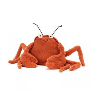 Jellycat - CC2C - Peluche crabe Crispin - L = 8 cm x l = 20 cm x H =15 cm (400250)