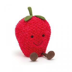 Jellycat - A2S - Peluche Fraise Fruit Amusant grand - 27 cm (400334)