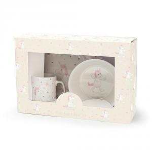 Jellycat - CS2BU - Bashful Unicorn Bowl, Cup & Plate - 20cm (400570)