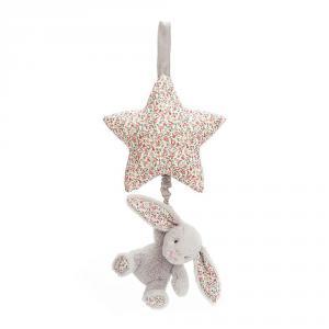 Jellycat - BAMS4BS - Blossom Silver Bunny Musical Pull -28 cm (400608)