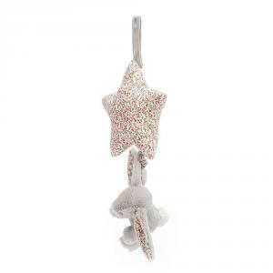 Jellycat - BAMS4BS - Blossom Silver Bunny Musical Pull -28 cm (400608)