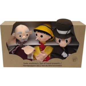 Bass et Bass - B08604 - Set 3 Marionnettes Pinocchio - Sans Pieds - Fabriqué en Europe - Jouet d'Hier (401856)