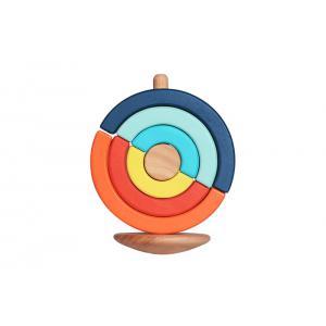 Bass et Bass - B83156 - Culboto Circulaire - Jouet en Bois à Empiler - Montessori - 18M+ Jouet en Bois (402364)