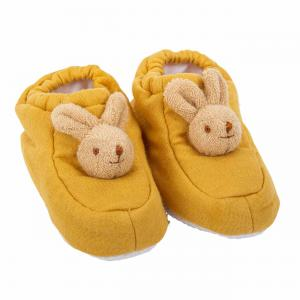 Trousselier - V1180 62 - Chaussons Lapin 0-2 ans - Lin Moutarde (403508)