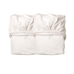 Leander - 500789 - Lot 2 draps housse Junior Blanc (403692)