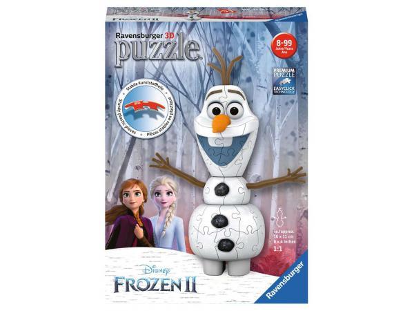 Puzzle 3d forme 54 pièces - olaf / disney la reine des neiges 2