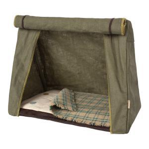 Maileg - 11-9400-00 - Happy camper tent, Mouse - Taille 18 cm - à partir de 36 mois (405674)