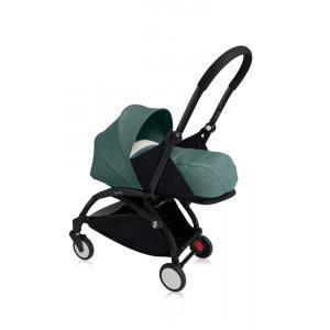 Babyzen - Bu104 - Poussette Yoyo+ cadre noir pack naissance Aqua (405738)