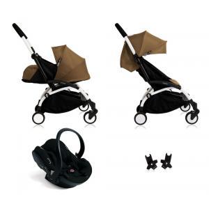 Babyzen - Bu109 - Poussette Yoyo+ complète cadre blanc habillages 0+ et 6+ Toffee et siège auto iZi Go Modular noir (405748)