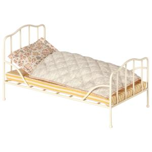 Maileg - 11-9100-00 - Vintage bed, Mini - Off white (406454)