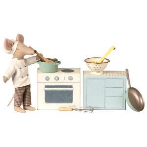 Maileg - 11-9108-00 - Cooking set - Taille 8 cm - à partir de 36 mois (406464)