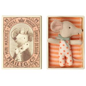 Maileg - 16-9710-01 - Baby mouse, Sleepy/wakey in box - Girl - Taille 8 cm - de 0 à 36 mois (406498)