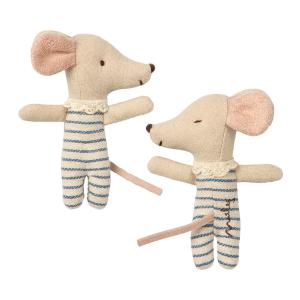 Maileg - 16-9711-01 - Baby mouse, Sleepy/wakey in box - Boy (406500)