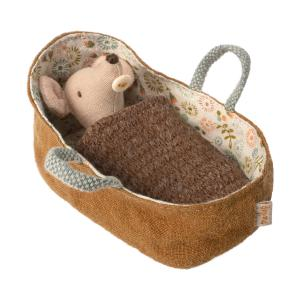Maileg - 16-9713-00 - Baby mouse in carrycot (406504)