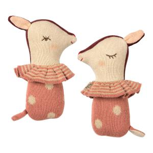 Maileg - 16-9910-00 - Bambi rattle - Rose (406562)