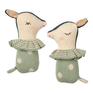 Maileg - 16-9910-01 - Bambi rattle - Dusty mint (406564)