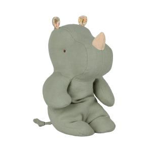 Maileg - 16-9920-00 - Safari friends, Small rhino - Dusty green (406568)