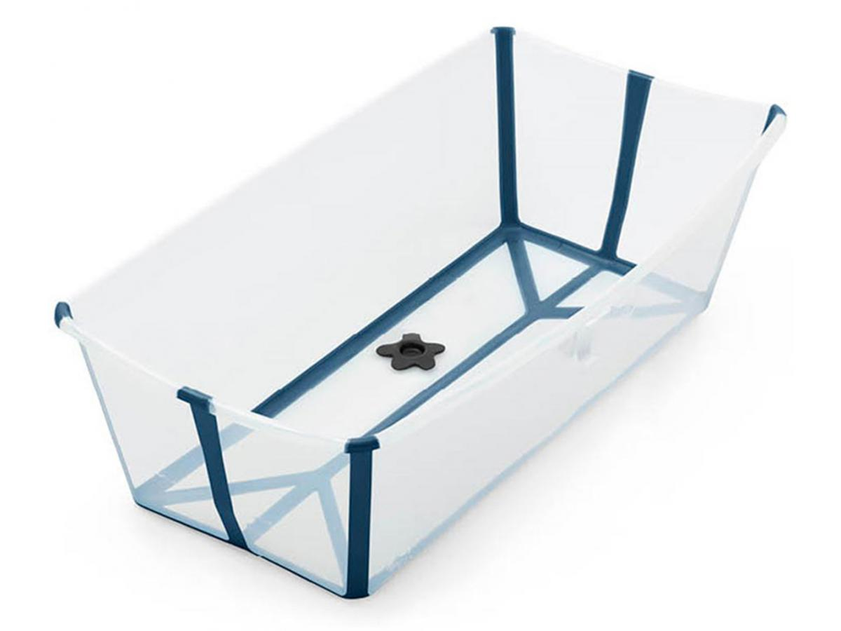 Stokke Baignoire Bath® X transparent bleu pliante Large Flexi nwX8P0Ok